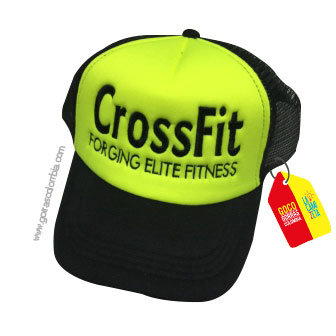 gorra negra frente verde personalizada crossfit