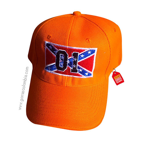 gorra naranja unicolor personalizada bandera