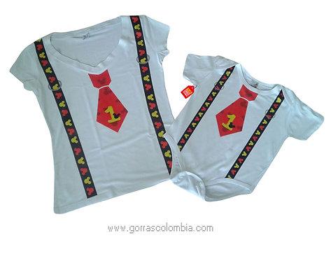 camisetas blancas para familia de mickey corbata