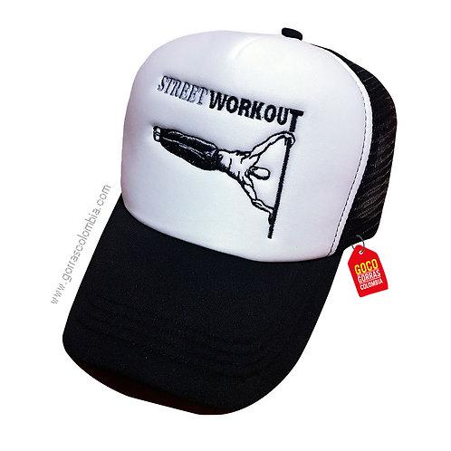gorra negra frente blanco personalizada streetworkout