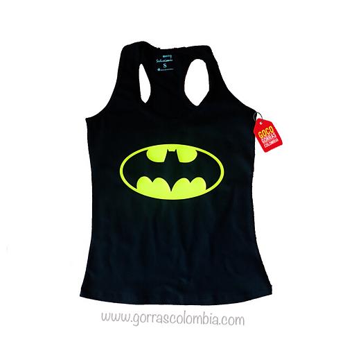 camiseta negra de superheroes batman mujer