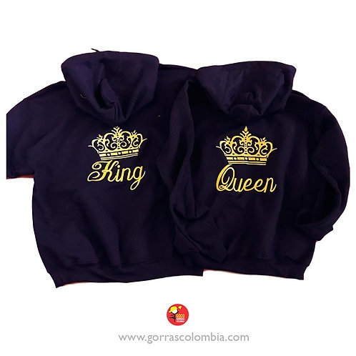 busos negros con capota para pareja king y queen
