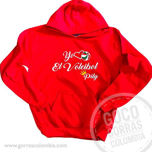 buso rojo personalizado yo amo el voleibol
