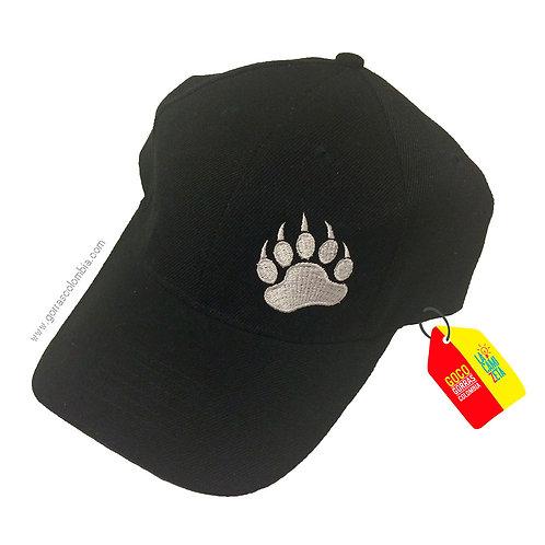 gorra negra unicolor personalizada huella