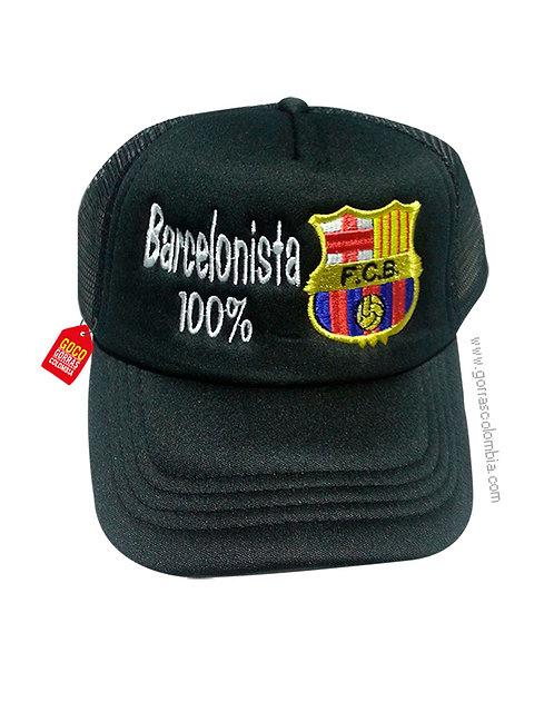 gorra negra unicolor personalizada barcelonista