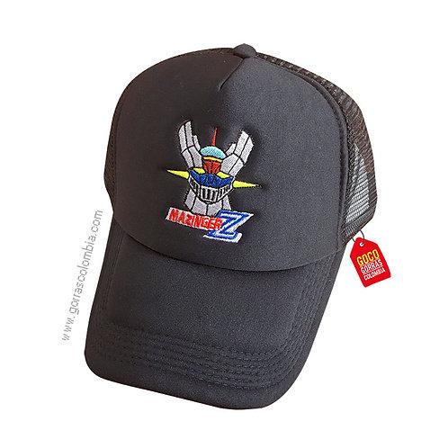 gorra negra unicolor personalizada mazinger