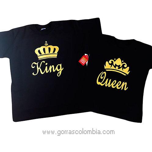 camisetas negras para pareja king y queen