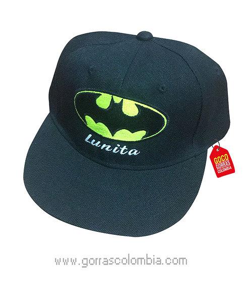 gorra negra unicolor plana personalizada de batman