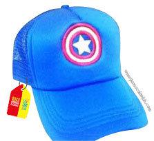gorra azul unicolor de superheroes capitan america