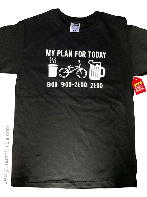 camiseta negra personalizada plan for today