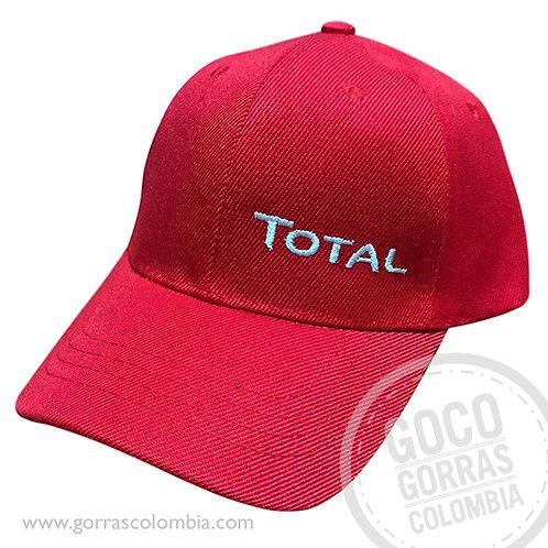 gorra roja unicolor personalizada total