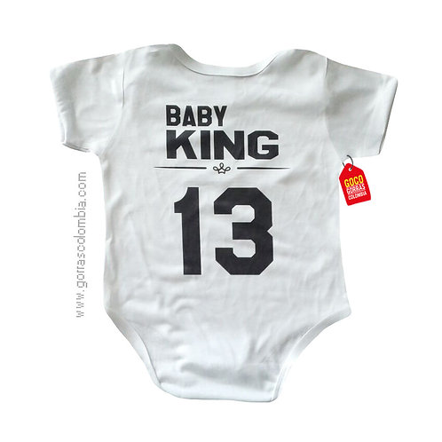 body blanco para bebe de baby king
