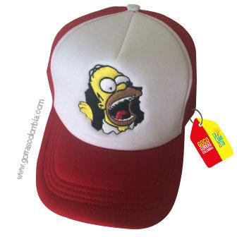 gorra vinotinto frente blanco personalizada homero
