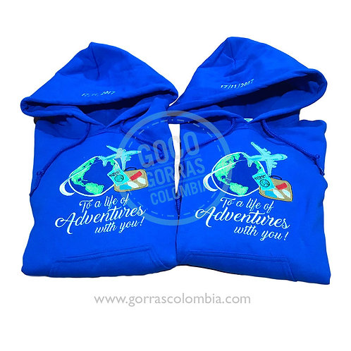 busos azules para pareja adventures with you