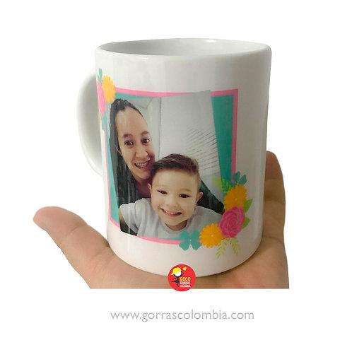 mug blanco personalizado foto cumpleaños