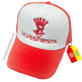 gorra roja frente blanco personalizada silvestrista
