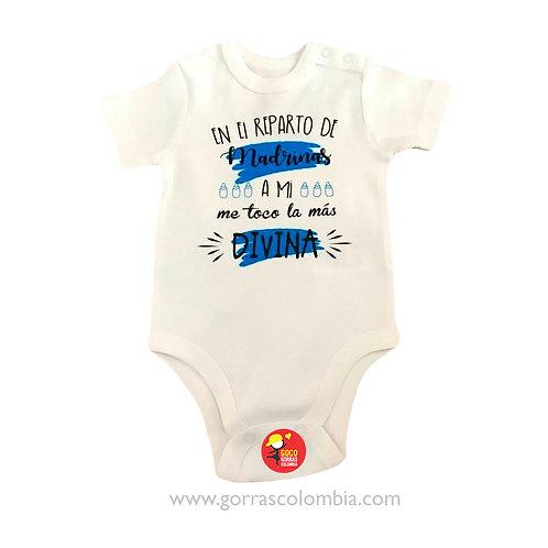 body blanco personalizado para bebe reparto de madrinas