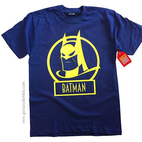 camiseta azul para niño de batman