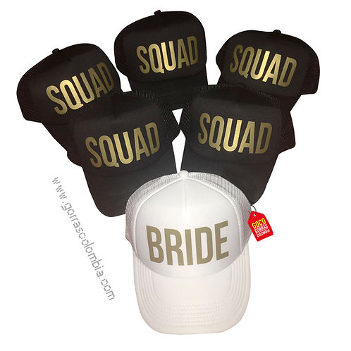 gorras negra y blanca unicolor para fiesta bride