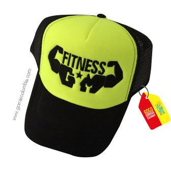gorra negra frente verde personalizada fitness