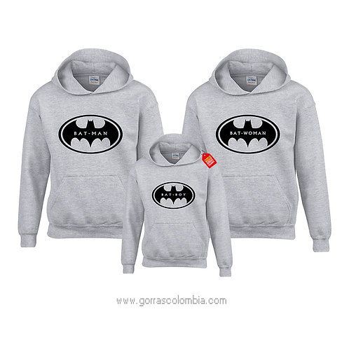 busos grises con capota para familia batman