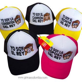 gorras varias frente blanco para familia rey emojic mono
