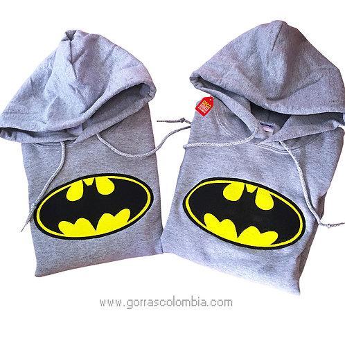busos grises con capota para pareja batman