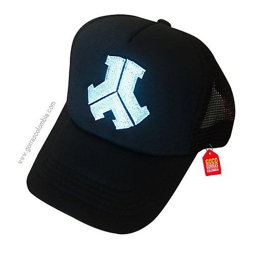 gorra negra unicolor personalizada reactor