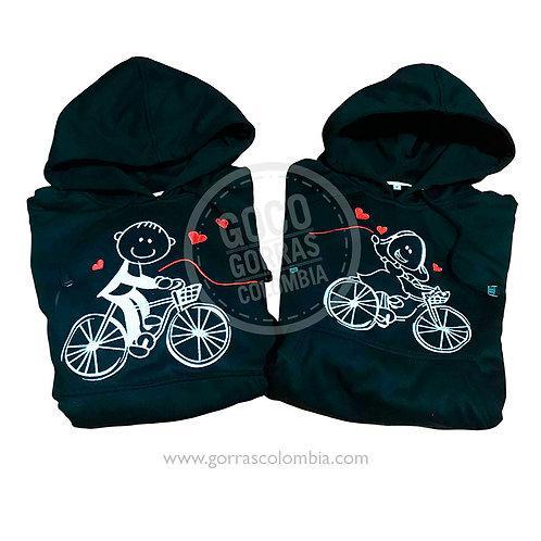 busos negros para pareja bici palitos