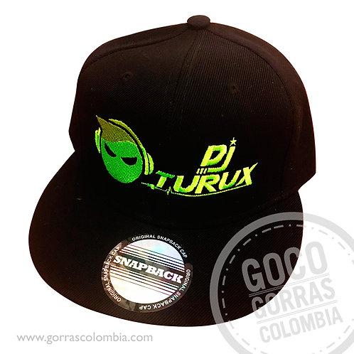 gorra negra unicolor personalizada dj turux