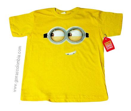 camiseta amarilla personalizada de minion