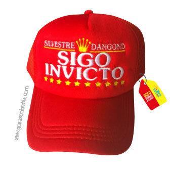 gorra roja unicolor personalizada sigo invicto