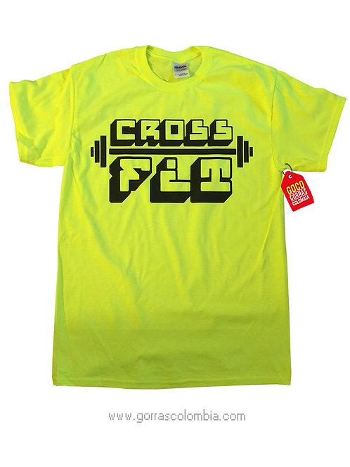camiseta verde personalizada crossfit