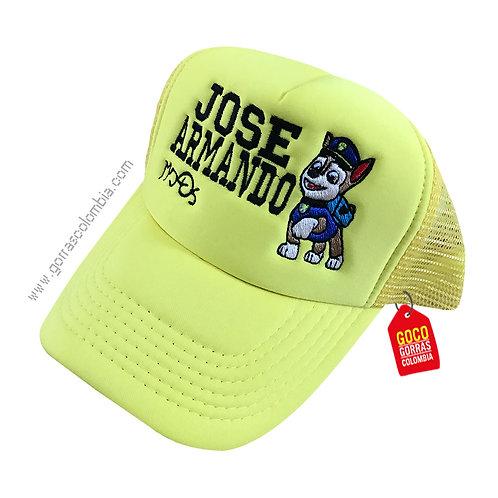 gorra verde neon unicolor para niño de patrulla canina