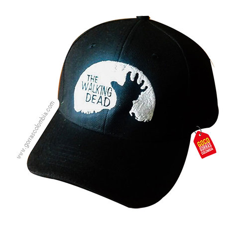 gorra negra unicolor personalizada the walking dead