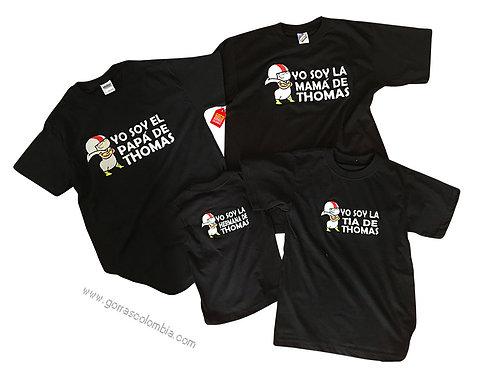 camisetas negras cuello redondo para familia quin butousqui