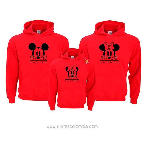busos rojos con capota para familia mickey nombres