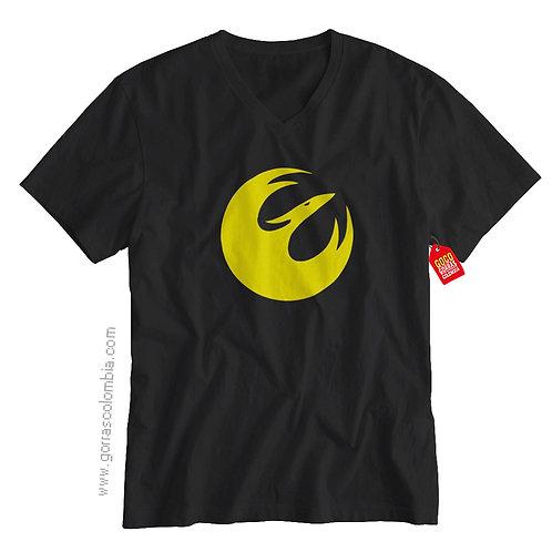 camiseta negra de superheroes starwars rebels
