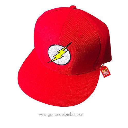 gorra roja unicolor de superheroes flash