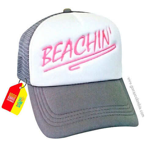gorra gris frente blanco personalizada beachin