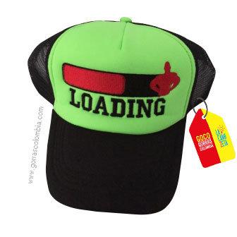 gorra negra frente verde personalizada loading