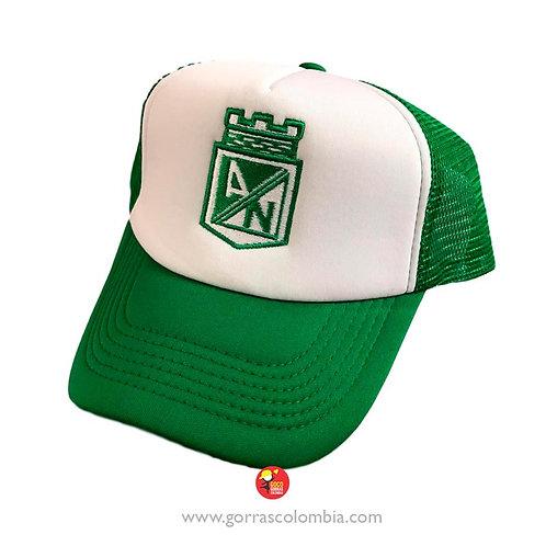 gorra verde frente blanco personalizada escudo nacional