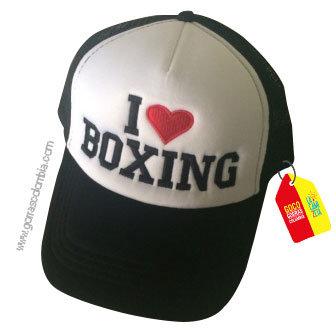 gorra negra frente blanco personalizada boxing