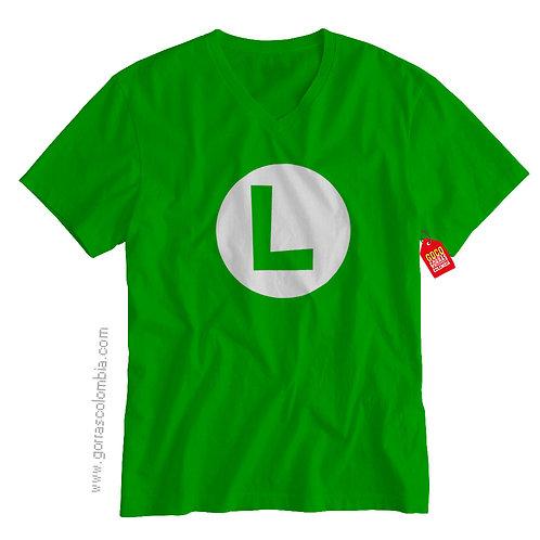 camiseta verde de superheroes luigi