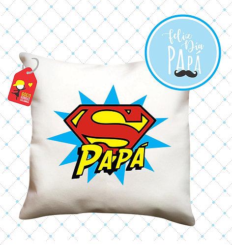 cojin blanco personalizado super papá