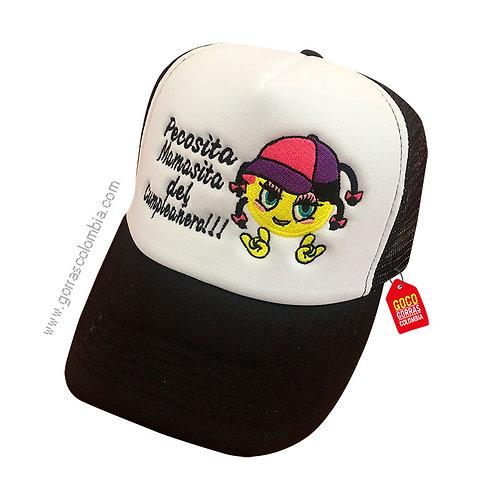 gorra negra frente blanco personalizada emoji con gorra