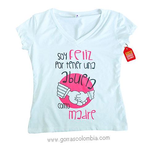 camiseta blanca para familia abuela como madre