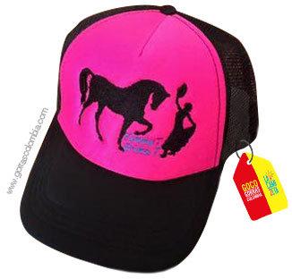 gorra negra frente fucsia personalizada bailarina y caballo