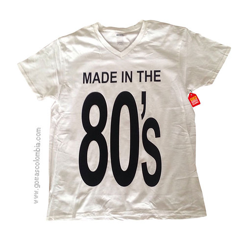 camiseta blanca personalizada made in
