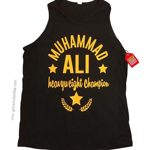 camiseta negra personalizada muhammad ali